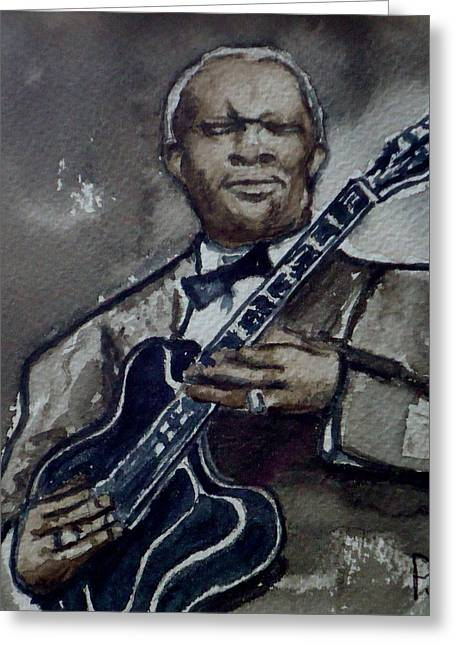 Lucille Greeting Cards - B B King Greeting Card by Pete Maier