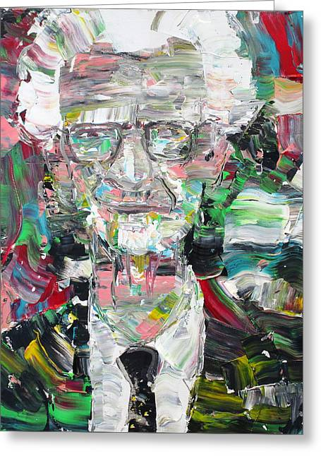 B. F. Skinner Portrait Greeting Card by Fabrizio Cassetta