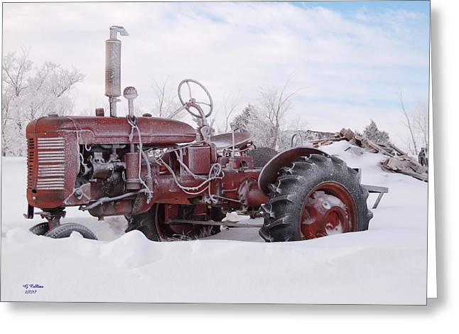 B Farmall Greeting Card