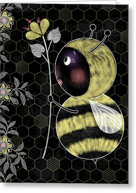 B Is For Bumble Bee Greeting Card