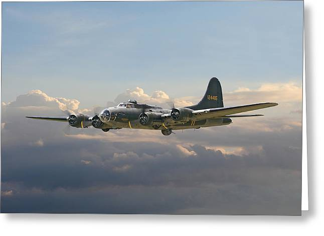 B17- Memphis Belle Greeting Card by Pat Speirs