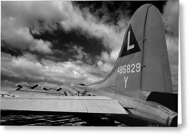 Us Army Air Corp Greeting Cards - B17 Tail Greeting Card by Frederic A Reinecke