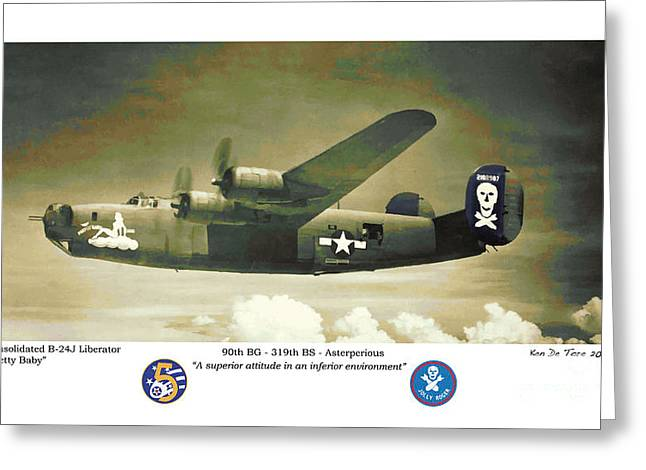B24-pretty Baby Greeting Card by Kenneth De Tore