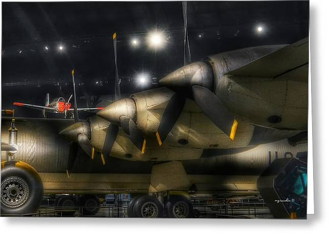 B36 Peacemaker _ Wing Sec Greeting Card by Michael Rankin