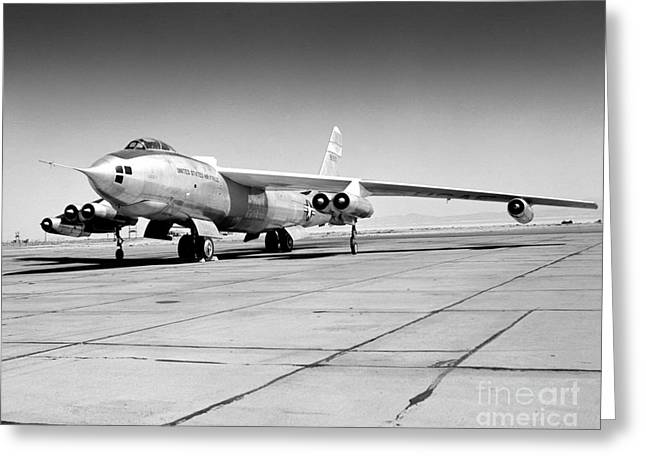 Military Pyrography Greeting Cards - B47A Stratojet Greeting Card by Greg Moores