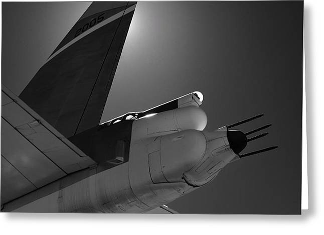 Greeting Card featuring the photograph B52hind by Rand
