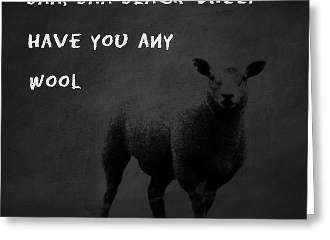 Baa Baa Black Sheep Greeting Card