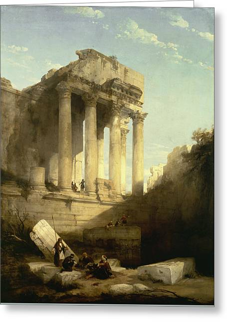 Baalbec - Ruins Of The Temple Of Bacchus Greeting Card