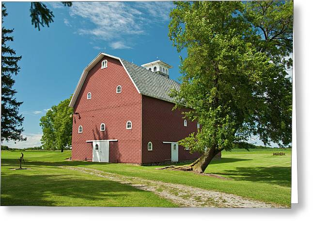 Greeting Card featuring the photograph Babcock Barn 2259 by Guy Whiteley