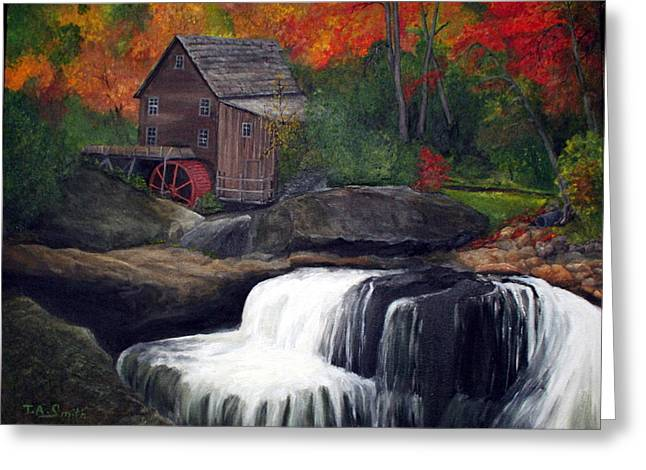 Babcock Mill Greeting Card by Timothy Smith