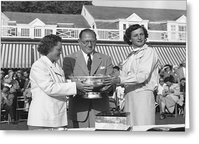 Babe Didrikson And Patty Berg Greeting Card by Underwood Archives