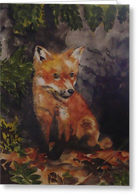 Jean Blackmer Greeting Cards - Babe In The Woods Greeting Card by Jean Blackmer