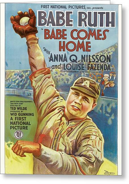 Babe Ruth Comes Home 1927 Greeting Card by Mountain Dreams