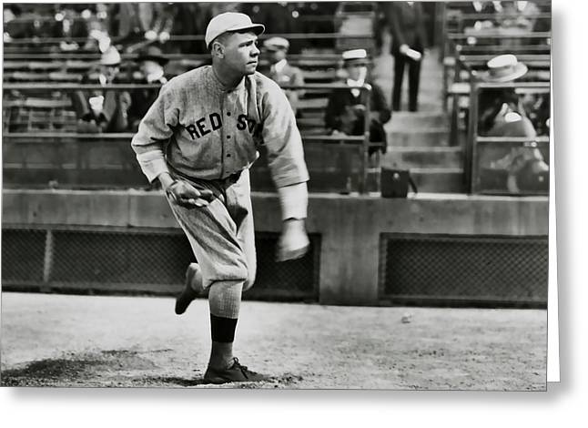 Babe Ruth - Pitcher Boston Red Sox  1915 Greeting Card