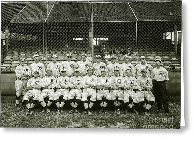 Babe Ruth Providence Grays Team Photo Greeting Card by Jon Neidert
