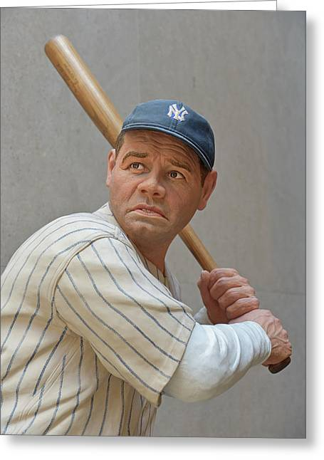 Babe Ruth Statue Greeting Card