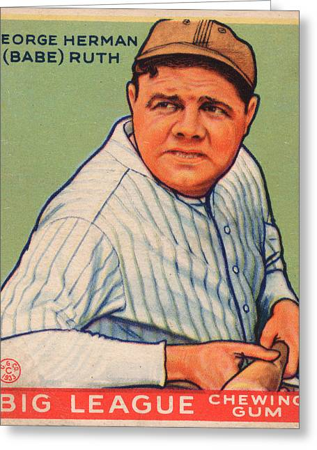 Babe Ruth Greeting Card