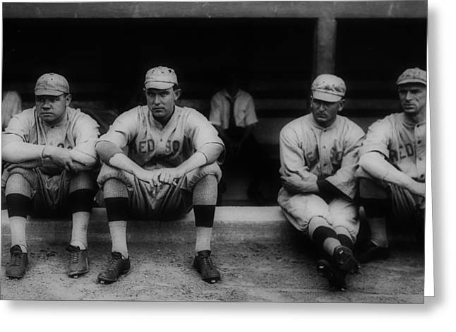 Babe Ruth With The Red Sox Greeting Card