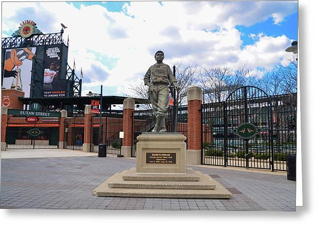 Greeting Card featuring the photograph Babes Dream - Camden Yards Baltimore by Bill Cannon