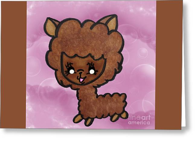 Baby Alpaca Greeting Card by Darci Smith