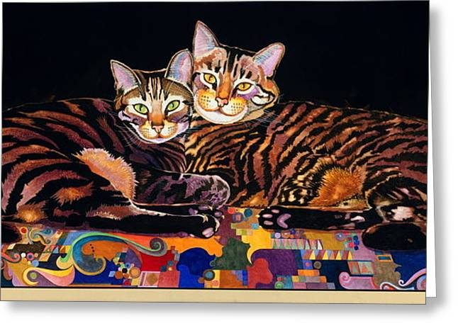 Baby And Critter Greeting Card by Bob Coonts