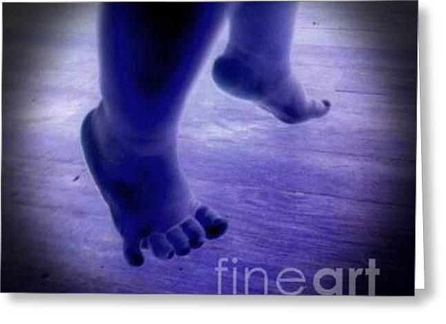 Baby Blu Dancing Royal Feet Greeting Card by Talisa Hartley