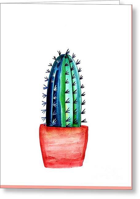 Baby Cacti Greeting Card by Sweeping Girl
