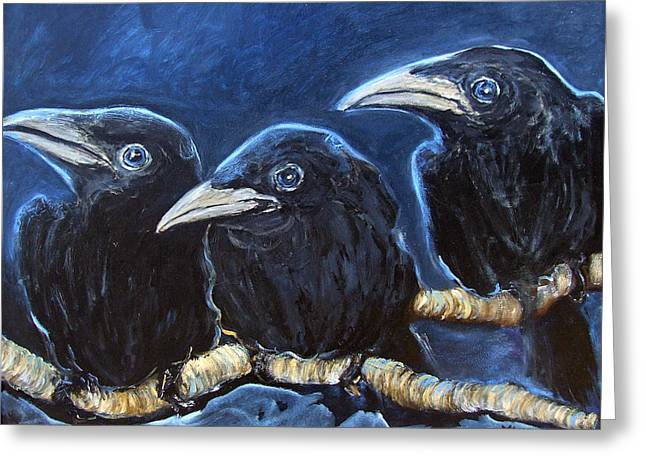 Baby Crows Greeting Card