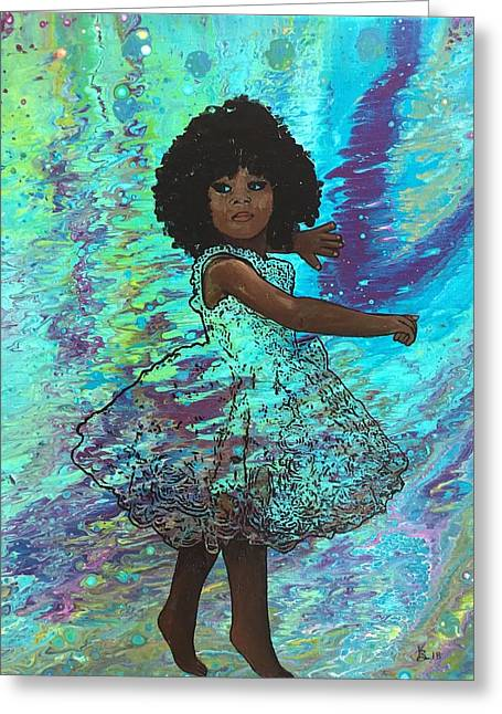 Baby Dancer Remix  Greeting Card