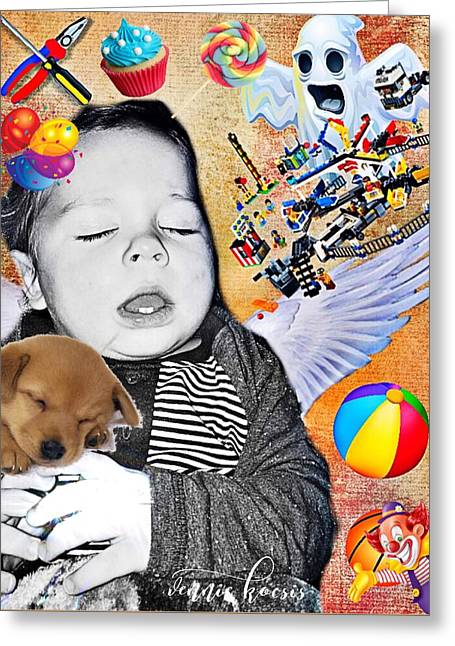 Baby Dreams Greeting Card by Vennie Kocsis