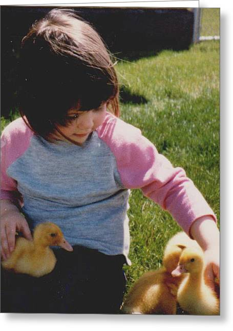 Baby Duck Love Greeting Card