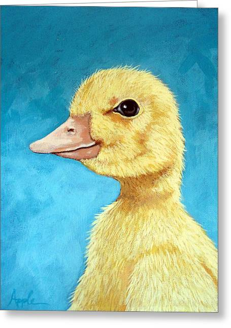 Baby Duck - Spring Duckling Greeting Card
