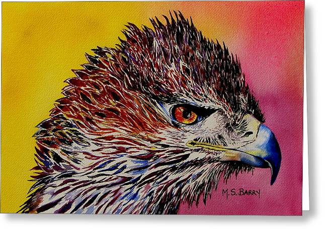 Baby Eagle Greeting Card by Maria Barry