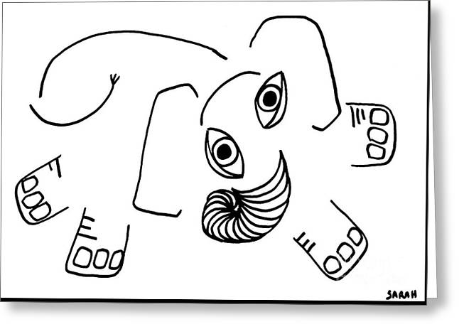 Baby Elephant Greeting Card by Sarah Loft
