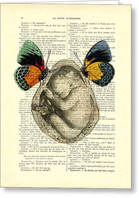 Baby Foetus And Butterflies Greeting Card