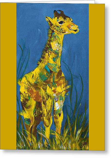 Baby Giraffe  Greeting Card by Catherine Jeltes