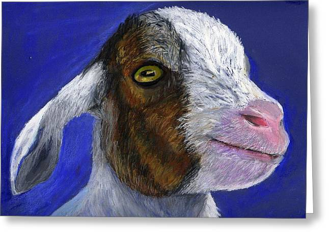 Baby Goat Greeting Card by Angela Finney