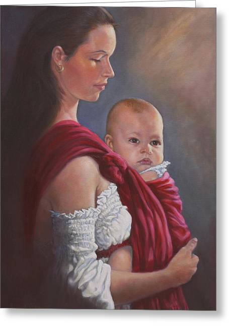 Baby In Rebozo Greeting Card