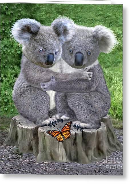 Baby Koala Huggies Greeting Card