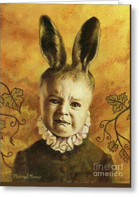 Baby Mutant Bunny Greeting Card by Michael Thomas
