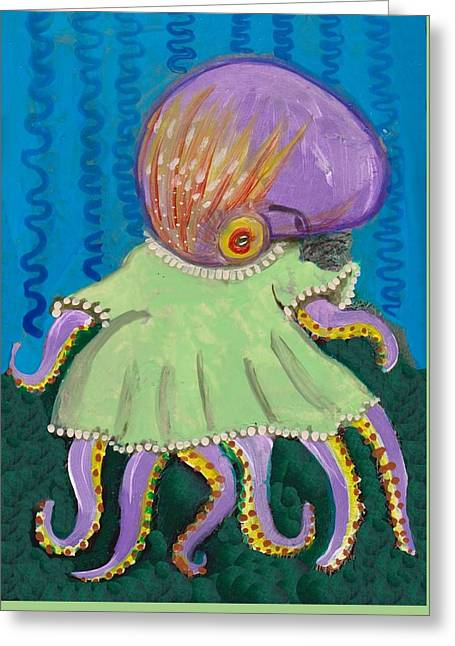 Baby Octopus In A Dress Greeting Card