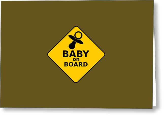 Baby On Board Greeting Card by Michelle Murphy
