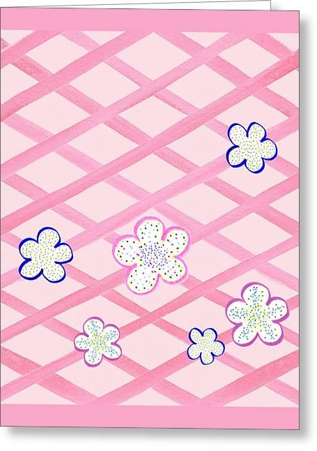 Baby Pink Flower Garden Greeting Card by Irina Sztukowski