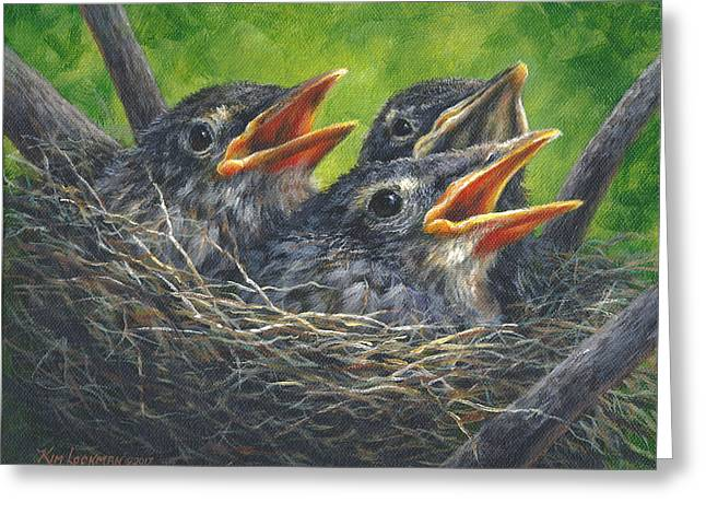 Baby Robins Greeting Card