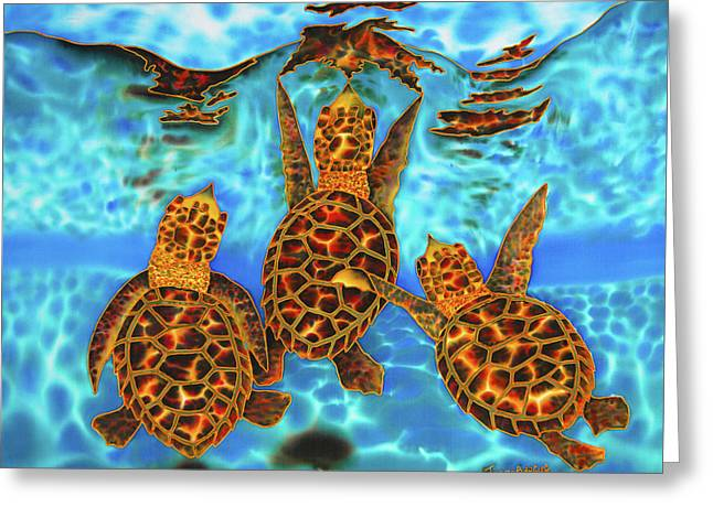 Baby Sea Turtles Greeting Card