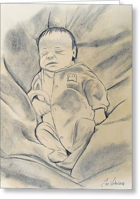 Pastel Greeting Cards - Baby sleeping Greeting Card by Jose Valeriano