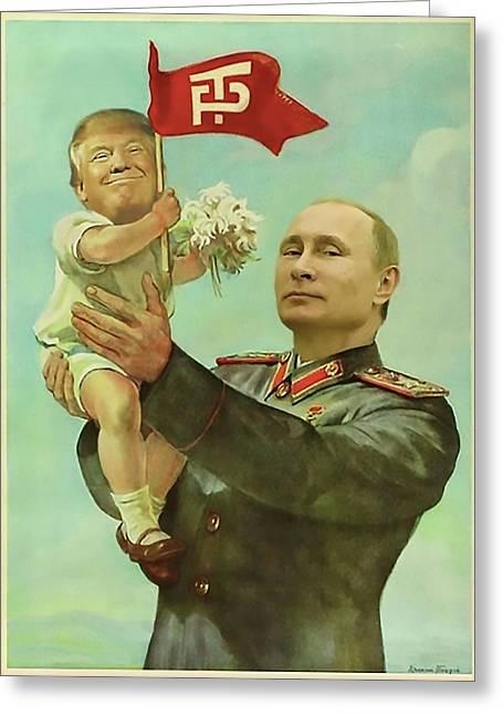 Baby Trump Putin Greeting Card