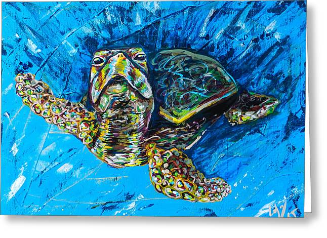 Baby Turtle Greeting Card by Lovejoy Creations