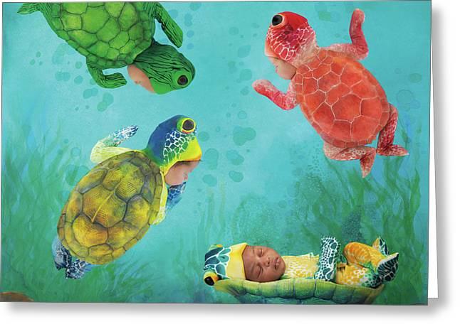 Baby Turtles Greeting Card by Anne Geddes