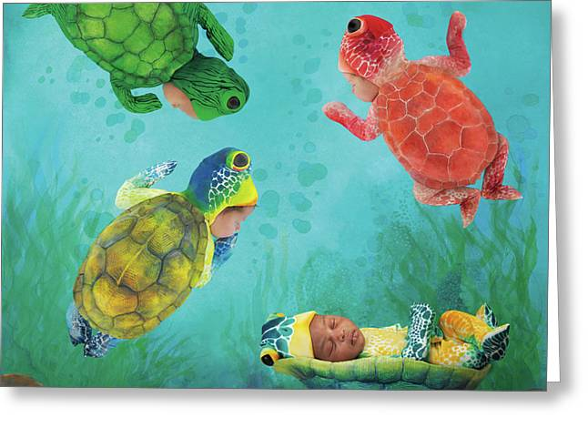 Baby Turtles Greeting Card by Anne Geddes